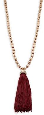 Design Lab Lord & Taylor Beaded Tassel Necklace $40 thestylecure.com