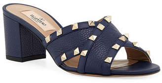 Valentino Rockstud Crisscross Leather Sandals