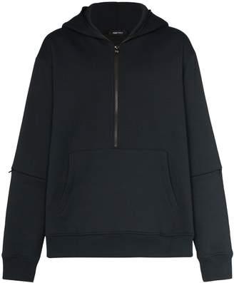 PORTVEL zipped hooded sweatshirt