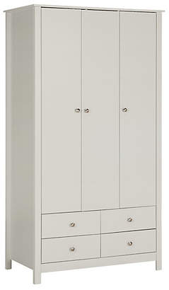 Collection Osaka 3 Door 4 Drawer Wardrobe - Soft Grey