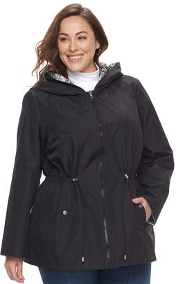Details Plus Size Reversible Hooded Jacket