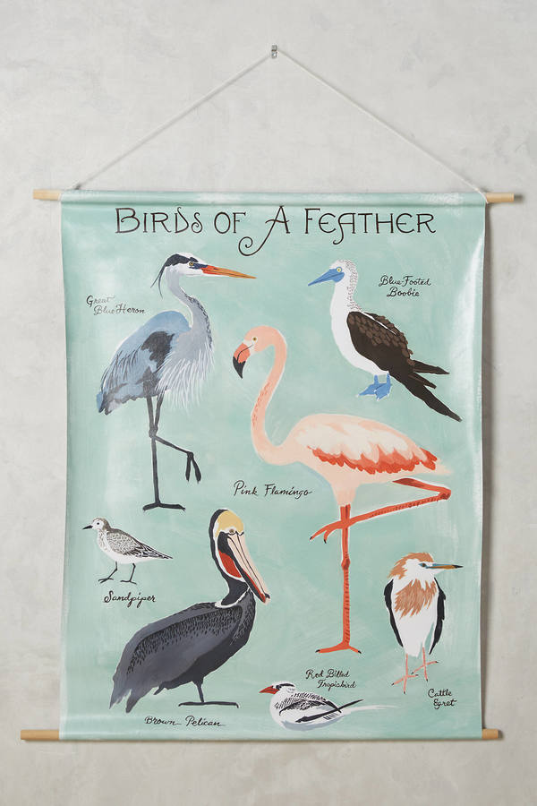 Anthropologie Anthropologie Birds Of A Feather Tapestry Wall Art