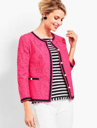 Talbots Flower-Filled Corded Lace Jacket