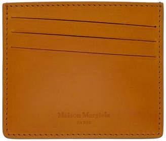 Maison Margiela Yellow and Grey Leather Card Holder