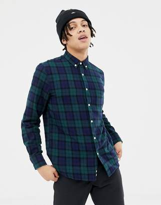 Penfield young plaid check buttondown regular fit shirt in green