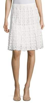 Elie Tahari Tyler Floral Lace Skirt