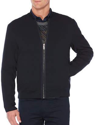 Perry Ellis Textured Bomber Jacket