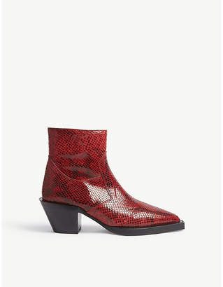 The Kooples Fake-python leather boots