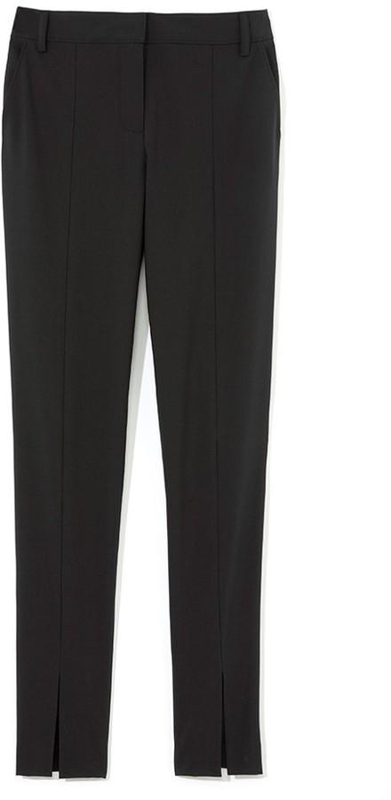 Tibi Tropical Wool Slim Pant