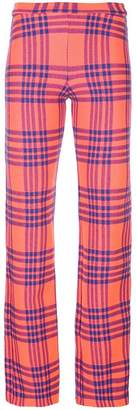 Cynthia Rowley plaid skinny trousers