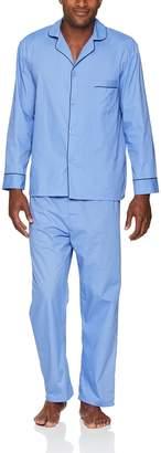 Hanes Men's Long Sleeve Leg Pajama Gift Set, Blue