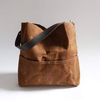 Independent Reign Waxed Canvas Bucket Tote - Saddle Brown