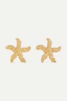 Pippa Small Net Sustain Starfish 18-karat Gold Earrings