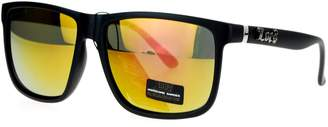 Revo Locs Mirror Lens Gangster Oversized Rectangular Wayfarer Sunglasses
