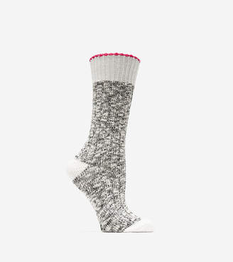 Cole Haan Metallic Lurex Slub Crew Socks