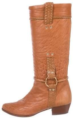 Fendi Leather Mid-Calf Boots
