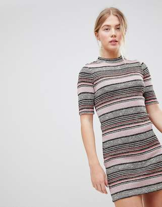 First & I Stripe Bodycon Dress