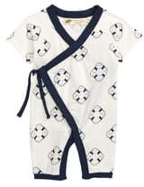 MONICA + Andy Sweet Baby Stretch Organic Cotton Wrap Romper