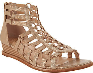 Vince Camuto Leather Gladiator Wedge Sandals- Richetta