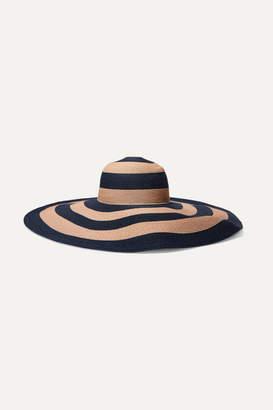 Eugenia Kim Sunny Striped Paper-blend Sunhat - Navy