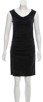 Helmut Lang Ruched Cowl Neck Dress