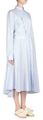 Cédric Charlier Asymmetric Poplin Dress