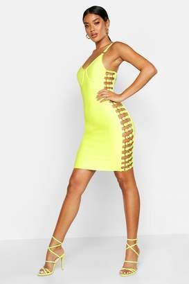 boohoo Boutique Contouring Bandage Side Detail Mini Dress