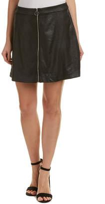 Kensie Zipper Mini Skirt