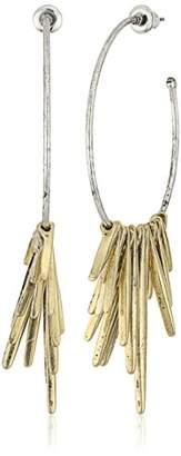 Steve Madden Tribal Spike Drop Earrings