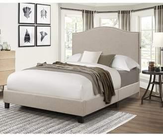Charlton Home Bulpitt Camel Back Queen Upholstered Panel Bed