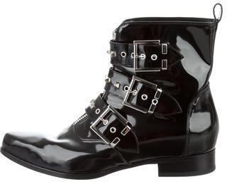 Alexander McQueenAlexander McQueen Embellished Leather Ankle Boots