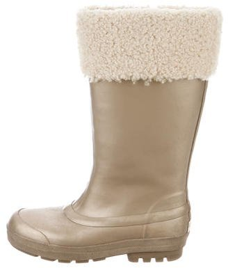 UGG Australia Shearling-Lined Rain Boots $75 thestylecure.com