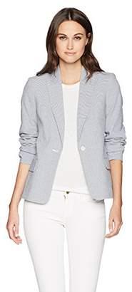 Calvin Klein Women's One Button Seersucker Jacket