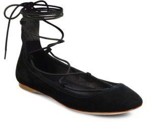 Joie Jenessa Suede Lace-Up Flats $228 thestylecure.com