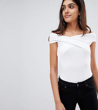 Asos Tall DESIGN Tall Top With Wrap Front