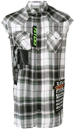 Diesel checked sleeveless shirt