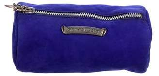 Chrome Hearts Suede Cosmetic Bag