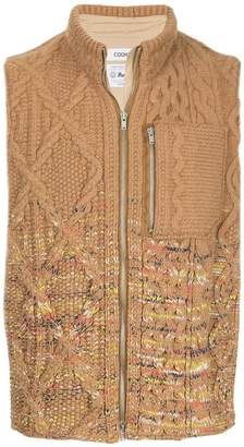 Coohem aran knit zipped vest