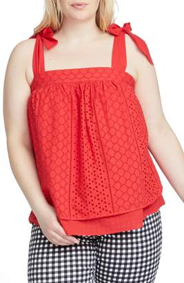 Rachel Roy Sabine Sleeveless Eyelet Top
