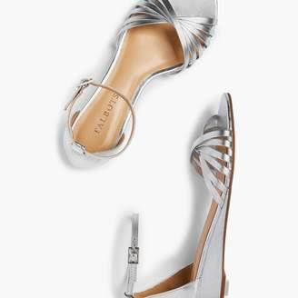 2fe5e0c0b60 Talbots Capri Twist-Strap Mini-Wedge Sandals - Metallic