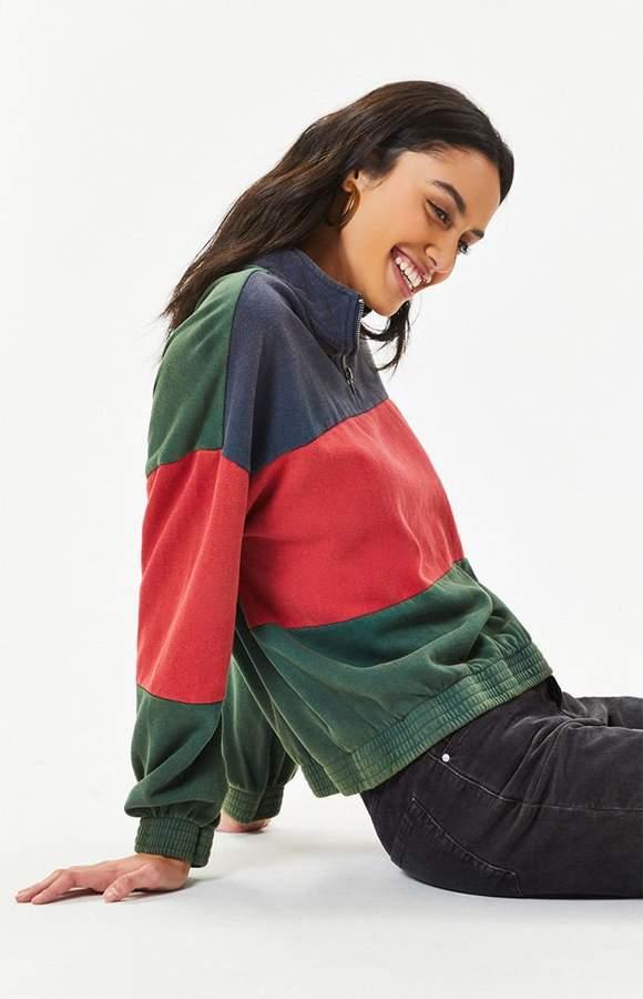 LA Hearts Colorblocked Half Zip Sweatshirt 43da64ea4bb