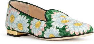 Charlotte Olympia Flower brocade flats