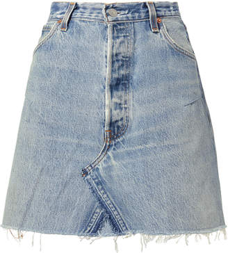 RE/DONE Core Denim Mini Skirt