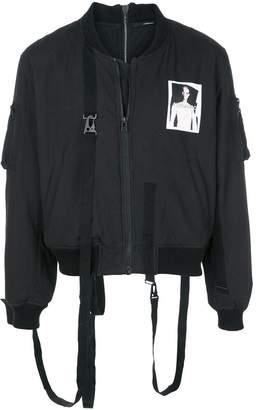 Komakino strap detail bomber jacket