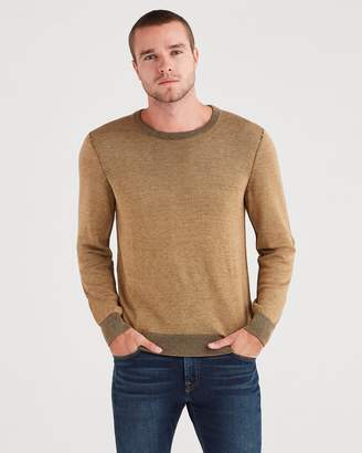 7 For All Mankind Plaited Crewneck Sweater in Camel