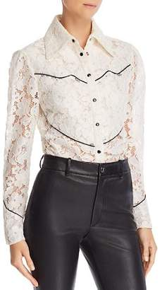 Divine Heritage Lace Western Shirt