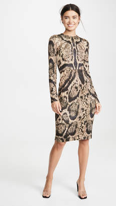 Yigal Azrouel Clouded Leopard Print Dress