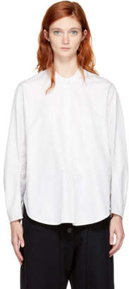 Studio Nicholson White and Black Pinstripe Cleve Blouse