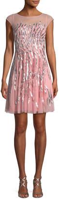 Aidan Mattox Sequin-Detail Mini Cocktail Dress
