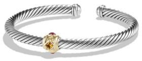 David Yurman Renaissance Bracelet with 14K Gold $650 thestylecure.com